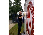 Chairman, John norrie, washing our display unit