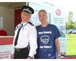Chairman John Norrie, with Supt Dave Hill at the Police Open Day