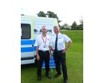 President Inspector Nigel Rickaby with Chairman John Norrie