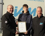 2019 Jack Barton receiving his certificate from PCC Stephen Mold (as well as being our 2nd young driver to receive a £100 cashback, Jack is also our 1,000 test pass!)