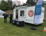 2019 May Castle Ashby Classic Car Show - the 'setting up' team having a well deserved cup of tea!