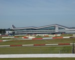2018 June CarKraft - the Wing at Silverstone from the viewing point of The Porche Experience (where CarKraft was being held)