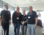 2018 October CarKraft at Rockingham Speedway: our team (l-r): Jack, David and Tess (all from our Group), and Dave (chairman of the Corby and District Group).