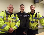 AGM : PCs Dave Watson, Dave Lee and Chris Gray (Dave Watson and Chris Gray from Serious Forensic Collision Investigation Unit) were our amazing guest speakers, whilst Dave Lee had been ivited (see next photos as to why!)