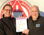 Steve Groves receiving his National Observer certificate from Observer Co-Ordinator Aidan Ward