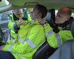 First aid training May 2018 - How to deal with a casualty in a vehicle, keeping the neck steady