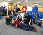 First aid training May 2018 - how to turn over a casualty