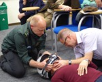 First aid training May 2018 How to remove a helmet (only if casualty cannot breath)