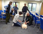First aid training May 2017 - practical training