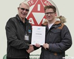 Alistair Ferrie receiving his Advanced Test certificate from his observer David Smith at our December checkdrives