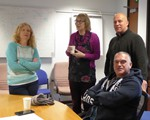December classroom session - Julia Maling, Julie Wilson, Peter Crowther and Matt Stockdale