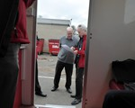 Chairman John looking at Ted's Advanced test sheet!  )Ted got a F1rst so not much on it!)