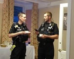 AGM Guest speakers, PC Chris Gray and PC Dave Lee, both Northants police