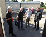 August checkdrives, the busiest fo the year!  l-r; John Norrie, David Reeves, Jack Foreman, Arthur Hawker and Aidan Ward.