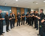 Presentation of IAM Test Certificates to the Special  Constables we supported to test.