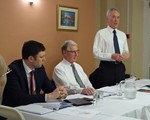 AGM (April): Top table: Guest speaker Superintendent Andy Cox, secretary David Smith and Chairman John Norrie