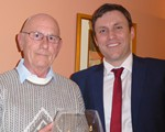 AGM (April): President Award winner Reg Inman with Group Preisdent Supt Andy Cox