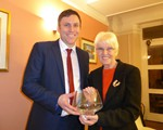 AGM (April): Caithness Bowl winner, Ann Lancaster with Group president Supt Andy Cox