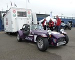 Our unit at the OpenRoads event, along with a caterham 7 belonging to a member of our Group