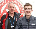 Young Driver Sponsorship Winner.  Chris Tew (with John Norrie), who is the very first winner of our Young driver sponsorship.