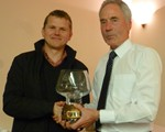 Ian Bird receiving his well deserved award, our Group Rosebowl
