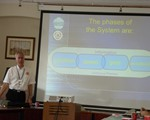 Feb - Classroom session with Associates (John Norrie dwarfted by projector board!)