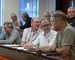 August observer meeting: top l-r: Andy Giddings, Steve Clorely, Reg Inman, Graham Ward; front l-r: David Reeves, David Smith, George Simpson and Aidan Ward