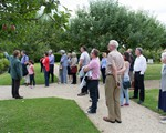 IAM Visit to Sulgrave Manor listening attentively (photo Peter Jordan)