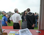 John norrie with the Corby mayor at the police open Day