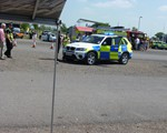 The view from our unit at the road safety day at Silverstone