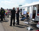 It was busy at the road safety day - the excellent weather helped