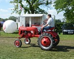 Rushden Historical Calvalcade again, with tractor passing our display unit.