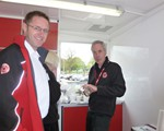 The Chairman, John Norrie, making coffee for the second time this year (Aidan Ward in foreground)