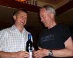 Ian Bird, overall winner, recieving his prize from the Chairman, John Norrie
