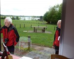 Brixworth Country Park - the view over Pitsford Resevoir form our unit.